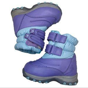 L.L. Bean Purple Blue Snow Boots Size 5